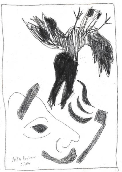Drawing - After Mikhail Larionov Pencil Drawing 9 by Artist Dot