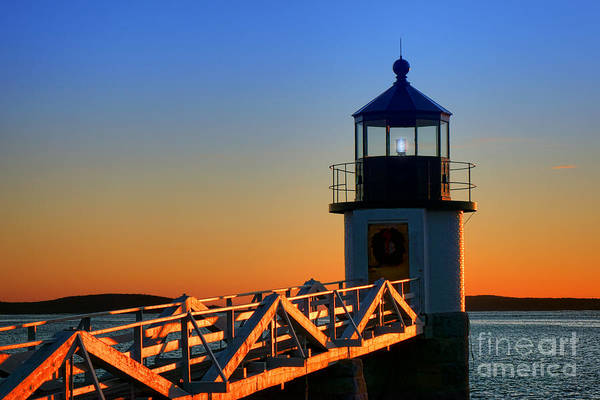 Port Orange Photograph - After Sunset At Marshall Point Lighthouse  by Olivier Le Queinec
