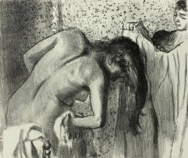 Relief - After The Bath, 1891-1892 by Edgar Degas