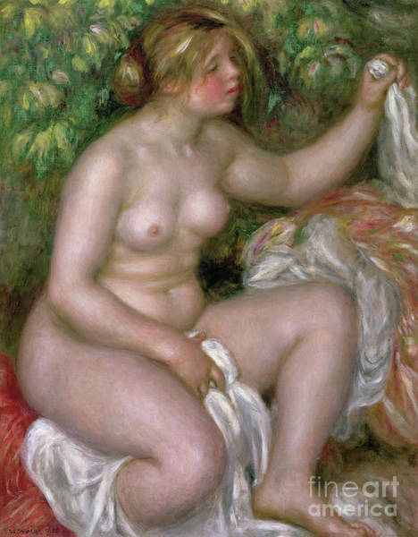 Wall Art - Painting - After The Bath, 1910 by Pierre Auguste Renoir