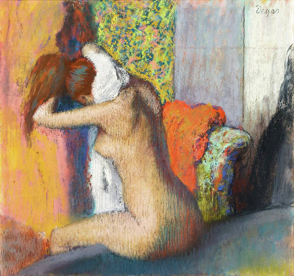 Wall Art - Painting - After The Bath - Digital Remastered Edition by Edgar Degas