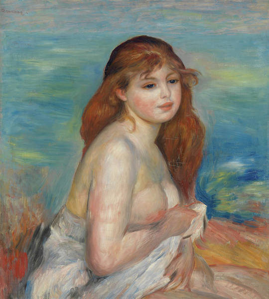 Wall Art - Painting - After The Bathroom, 1886 by Pierre-Auguste Renoir