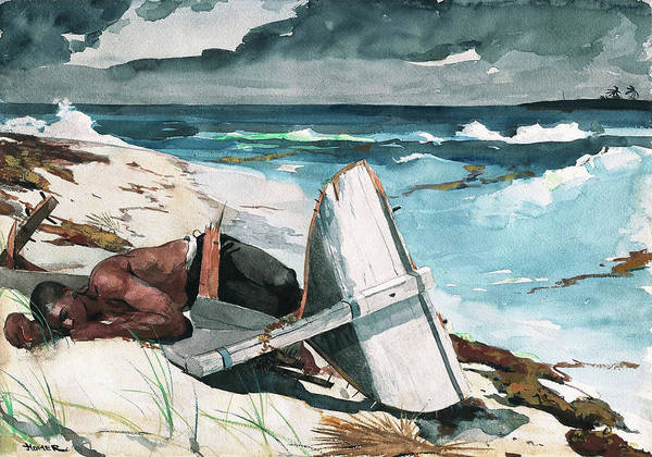 Blast Wave Wall Art - Painting - After The Hurricane, Bahamas - Digital Remastered Edition by Winslow Homer