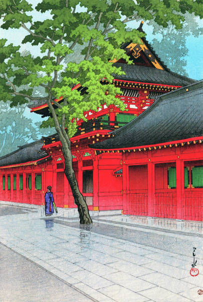 Wall Art - Painting - After The Rain At Sanno - Digital Remastered Edition by Kawase Hasui