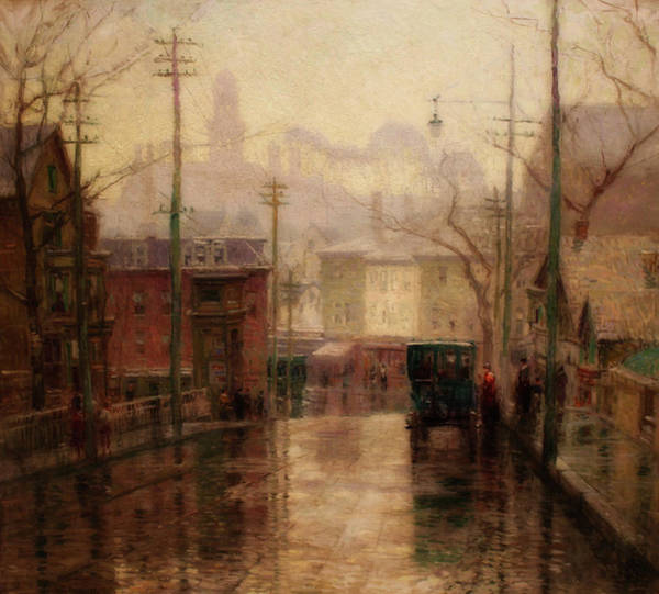 Wall Art - Painting - After The Rain, Gloucester by Paul Cornoyer