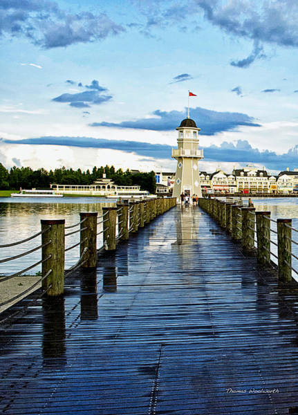 Wall Art - Photograph - After The Rain Yacht And Beach Club Lighthouse Vertical by Thomas Woolworth