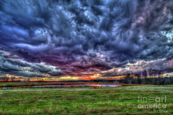 Photograph - After The Storm Incredible Sunset Oconee County Georgia Art by Reid Callaway