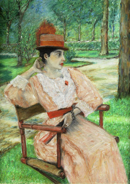 Love In The Afternoon Painting - Afternoon In The Park by William Merritt Chase