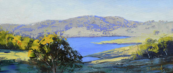 Wall Art - Painting - Afternoon Light Lake Lyell by Graham Gercken