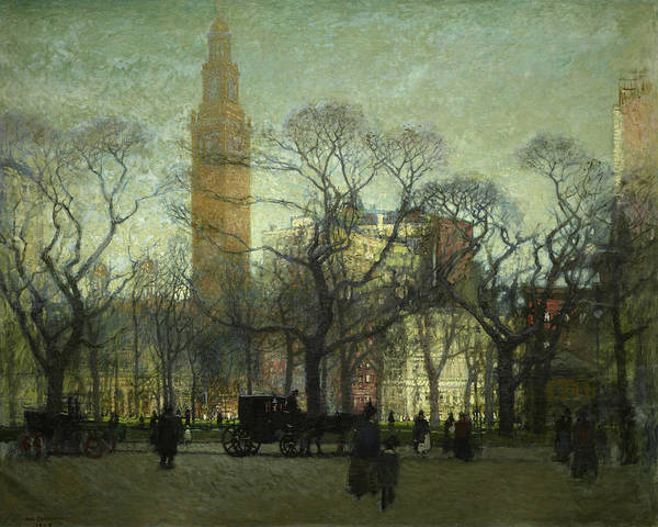 Square Tower Painting - Afternoon Madison Square by Paul Cornoyer