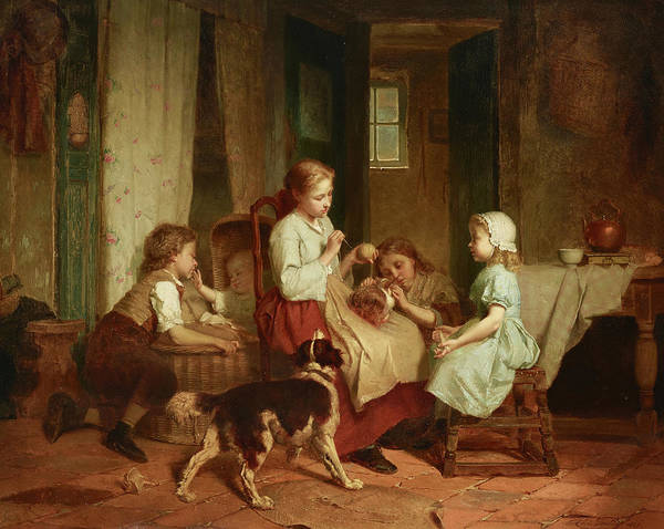 Cats And Dogs Painting - Afternoon Pastimes by Theodore Gerard