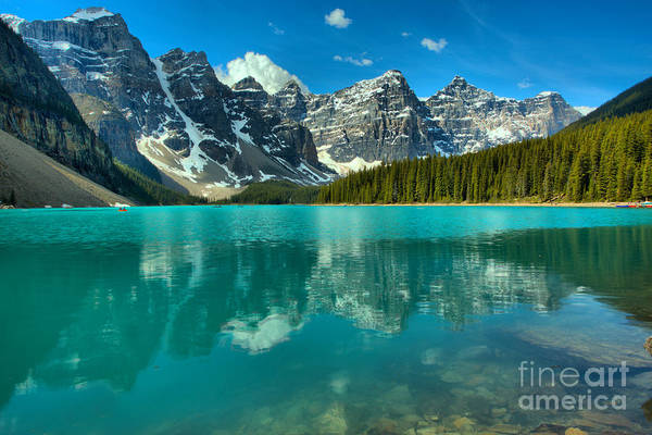 Photograph - Afternoon Rocky Reflections At Moraine Lake by Adam Jewell