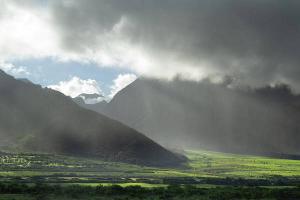 Photograph - Afternoon Sun On The West Maui Mountains by Marie Leslie