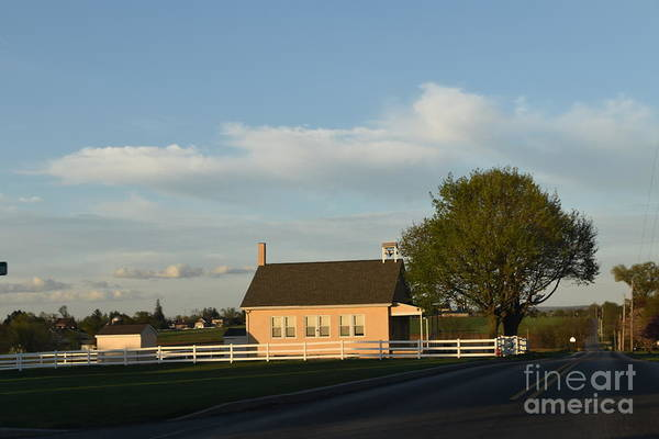 Photograph - Afternoon Sun Shines On A Schoolhouse by Christine Clark