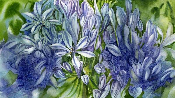 Painting - Agapanthus In Blue by Alfred Ng