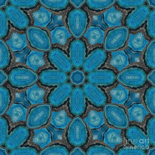 Wall Art - Digital Art - Agate Mandala by Mo T