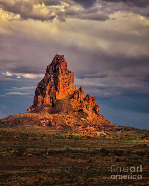 Monument Valley Photograph - Agathla Peak by Medicine Tree Studios