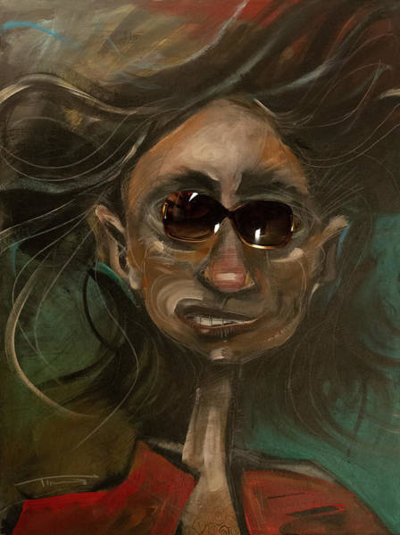 Mixed Media - Aging Rock Star by Tim Nyberg