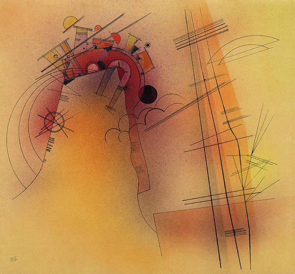 Visual Illusion Wall Art - Painting - Aglow, 1928 by Wassily Kandinsky