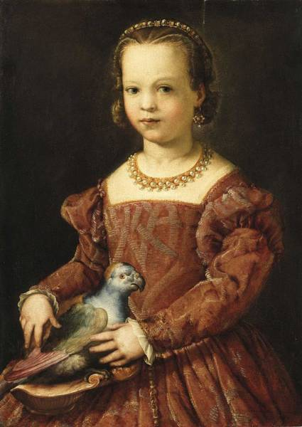 Wall Art - Painting - Agnolo Bronzino  Florence 1503-1572  Portrait Of A Young Girl by Celestial Images