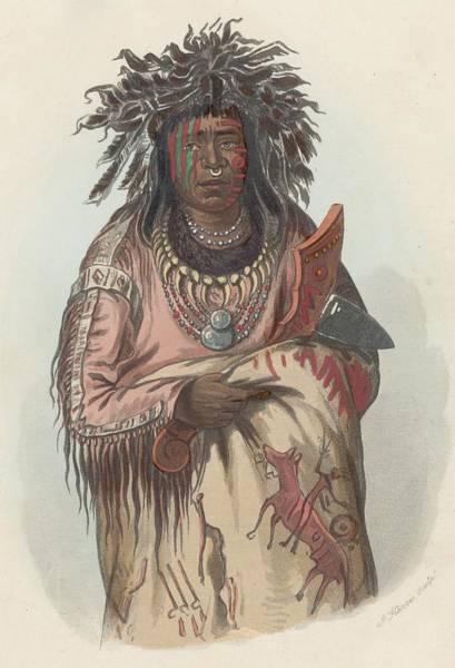 Indigenous People Digital Art - Ah-quee-we-zaints by Hulton Archive