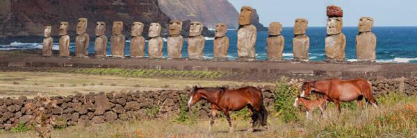 Wall Art - Photograph - Ahu Tongariki, Easter Island, Chile by Karen Ann Sullivan