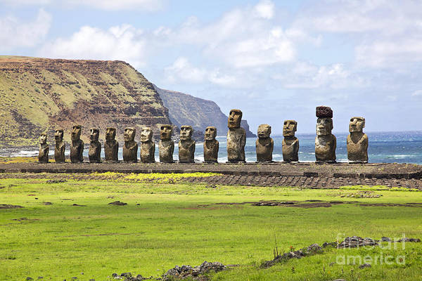 Wall Art - Photograph - Ahu Tongariki - The Largest Ahu On by Bryan Busovicki