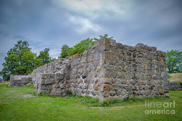 Wall Art - Photograph - Ahus Aosehus Castle Ruins by Antony McAulay