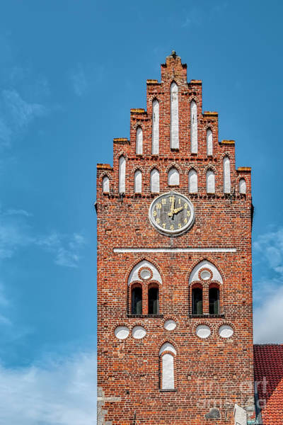 Wall Art - Photograph - Ahus Saint Marys Church Steeple by Antony McAulay