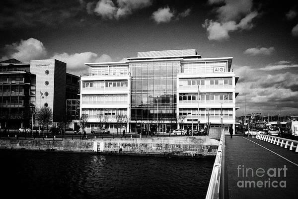 Wall Art - Photograph - Aig Offices Headquarters Ifsc North Wall Quay North Wall Dublin 1 Dublin Republic Of Ireland Europe by Joe Fox