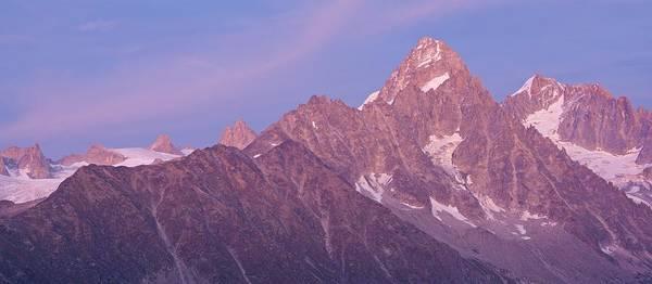Photograph - Aiguille Du Chardonnet Alpen Glow by Stephen Taylor