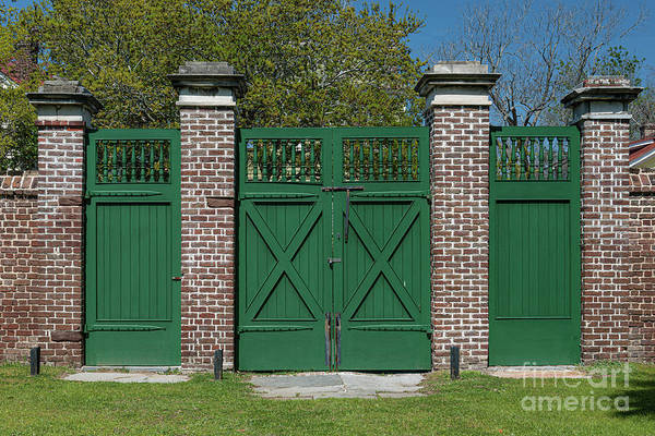 Photograph - Aiken Rhett House Gate by Dale Powell