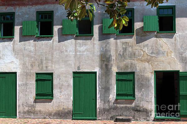 Photograph - Aiken Rhett House - Green Doors by Dale Powell
