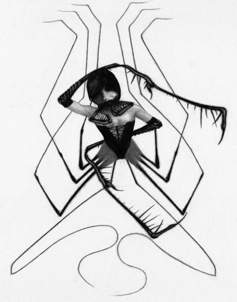 Aiko The Mistress Noir - Artwork Art Print