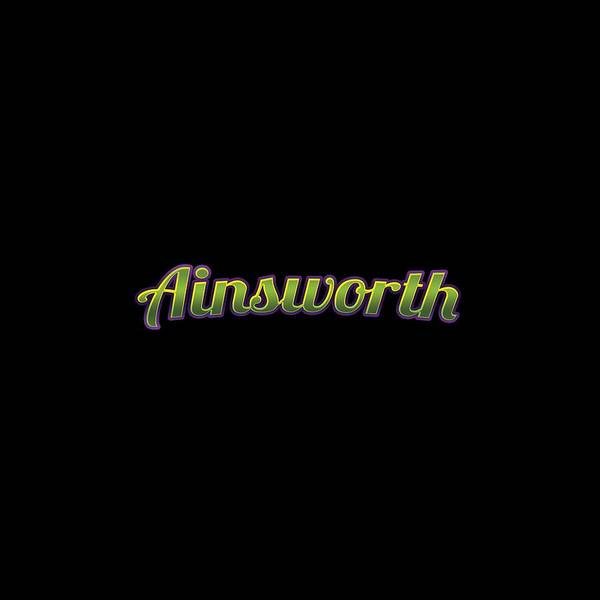 Wall Art - Digital Art - Ainsworth #ainsworth by TintoDesigns