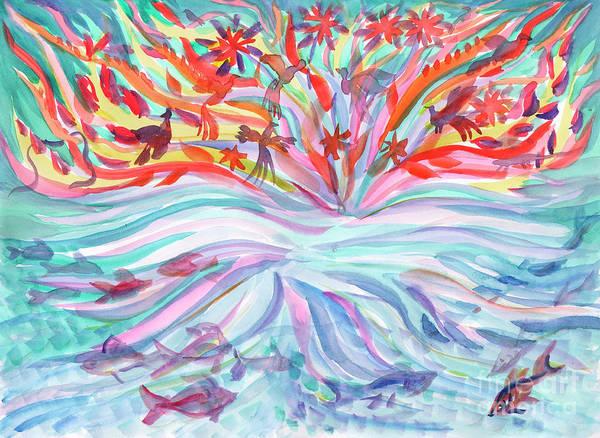 Painting - Air And Water Fauna by Irina Dobrotsvet