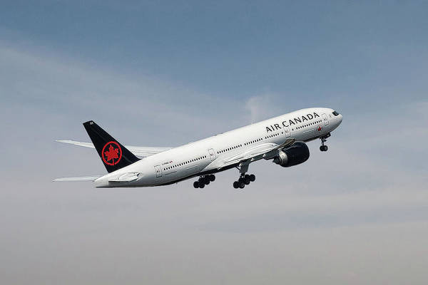 Wall Art - Mixed Media - Air Canada Boeing 777 233 Lr by Smart Aviation