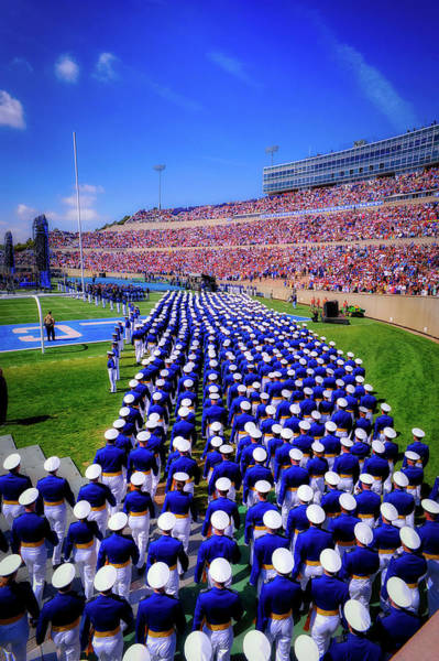 Wall Art - Photograph - Air Force Academy Cadets Marching In For Graduation by U S A F