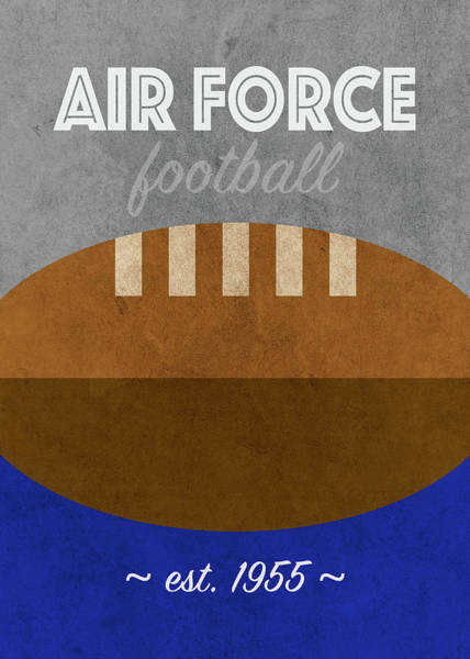 Wall Art - Mixed Media - Air Force College Football Team Vintage Retro Poster by Design Turnpike