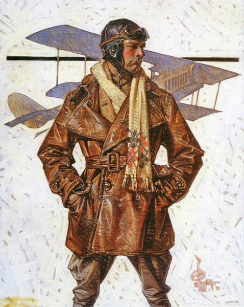Wall Art - Painting - Air Force Pilot - Digital Remastered Edition by Joseph Christian Leyendecker