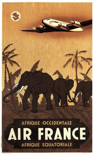 Wall Art - Photograph - Air France Afrique Equatoriale 1946 by Daniel Hagerman