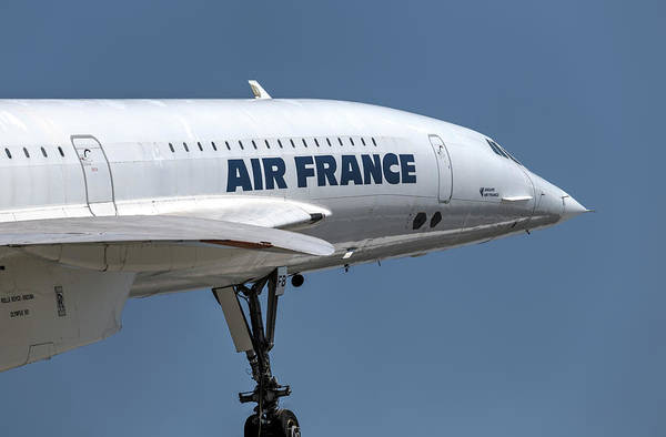 Wall Art - Photograph - Air France Concorde Airliner by David Pyatt