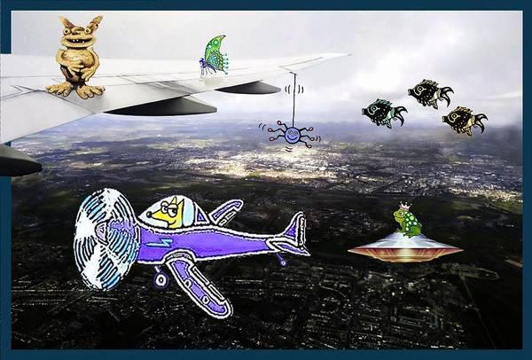 Mixed Media - Air Traffic by Hartmut Jager