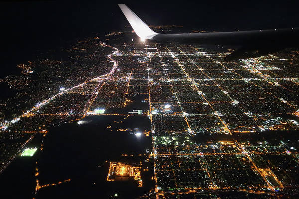 Burbank Photograph - Air Travel - Los Angeles From Above by Florian Kainz