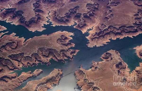 Wall Art - Photograph - Air View Of Lake Powell by Mae Wertz