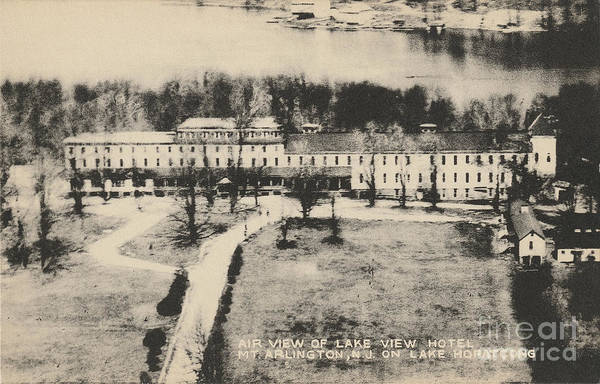 Photograph - Air View Of Lake View Hotel On Lake Hopatcong by Mark Miller