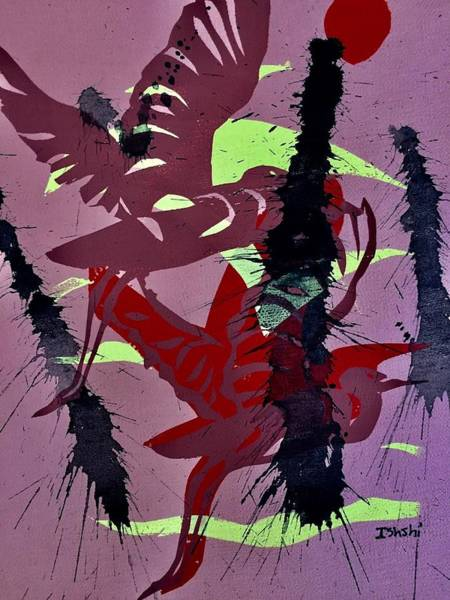 Wall Art - Mixed Media - Airborne by Gladys Shirley