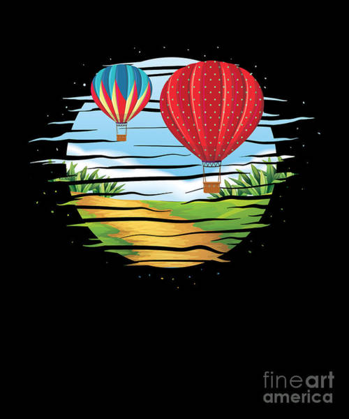 Wicker Basket Digital Art - Aircraft Wicker Basket Gondola Awesome Hot Air Balloon Scenery Gift by Thomas Larch