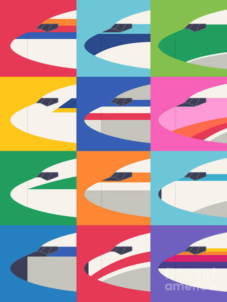 Head Wall Art - Digital Art - Airline Livery Minimal by Ivan Krpan