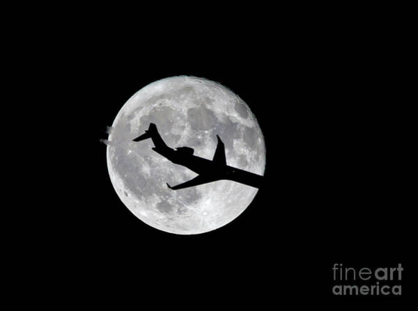Photograph - Airliner Silhouette by Kevin McCarthy
